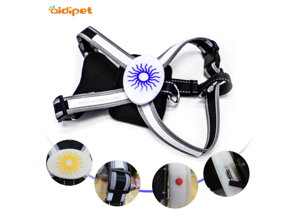 Different Types Of The Rechargeable Flashing Dog Harness
