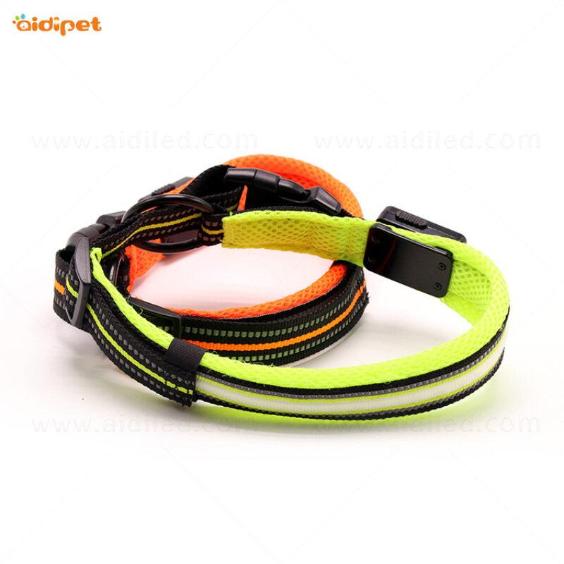 Professional Design safety Pet Led Flashing  smart dog collar leash with led light