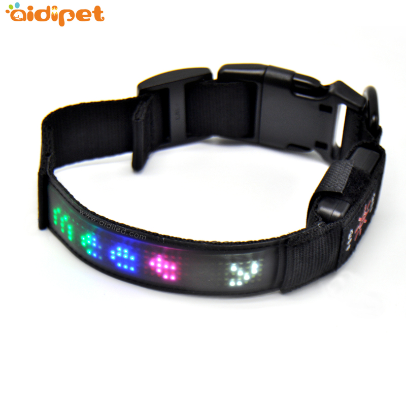 Pet Training Light Strip Appcontrol LED Collar for Dog