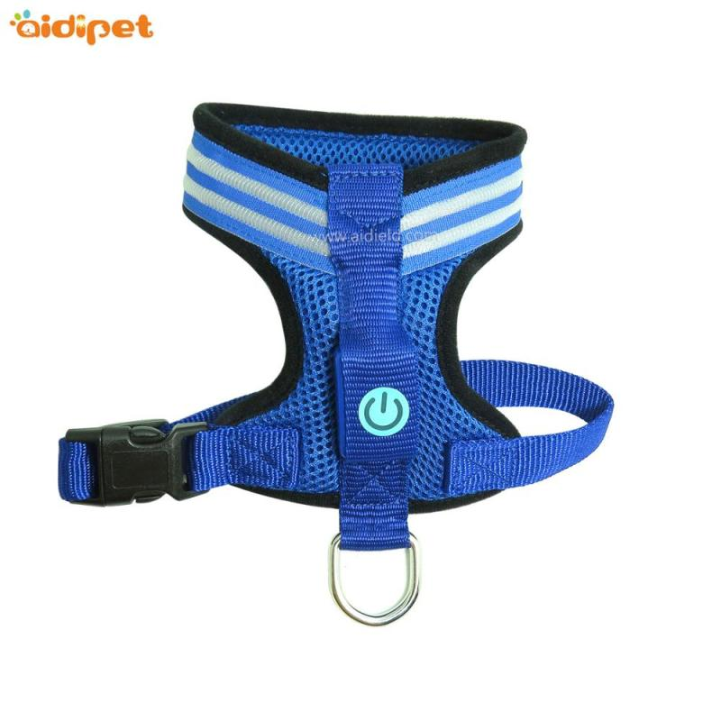 USB Rechargeable Led Dog Harness Vest, Reflective Led Safety Dog Harness