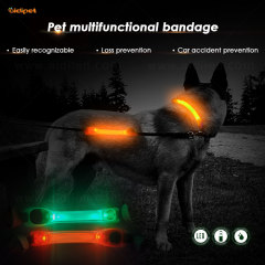 Dog Collar Accessory with Led Light, Cover Common Dog Collar To Make it Light, Led Dog Collar Light