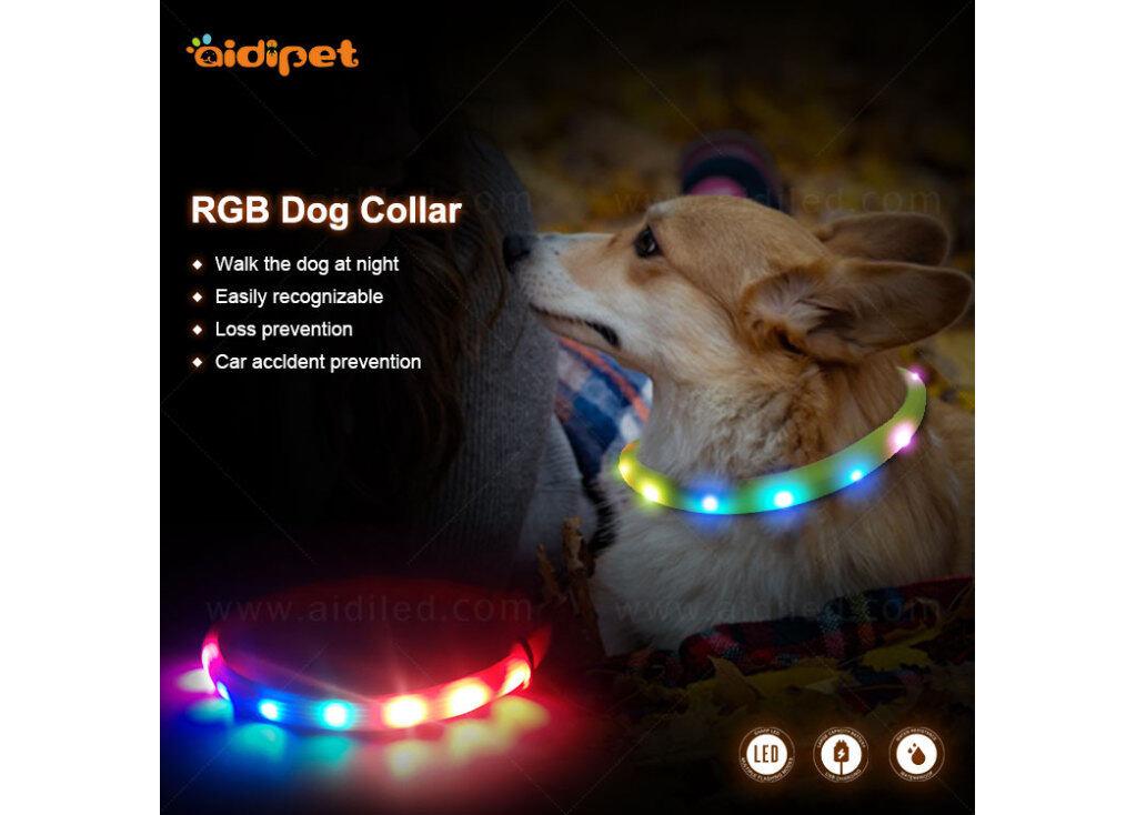 aidi led rgb dog collar