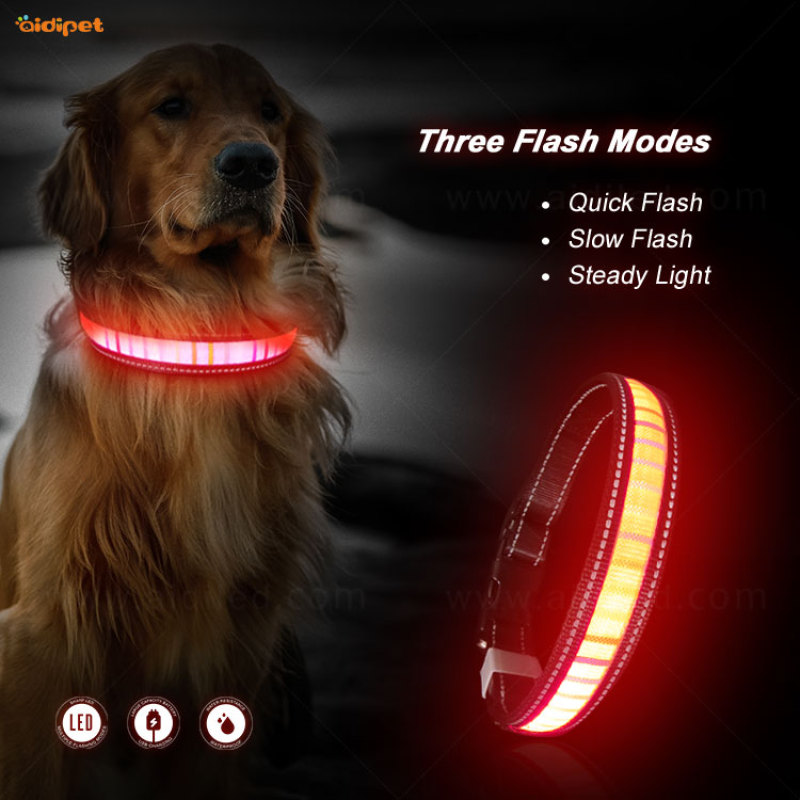new arrival led dog collar can suit with mask bravo