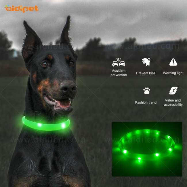 Wholesale Waterproof Silicone LED Lighting Dog Collar