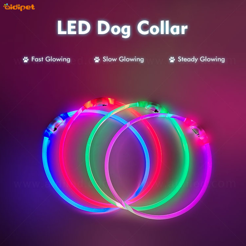 Flea Fancy LED Dog Head dog collar in stock