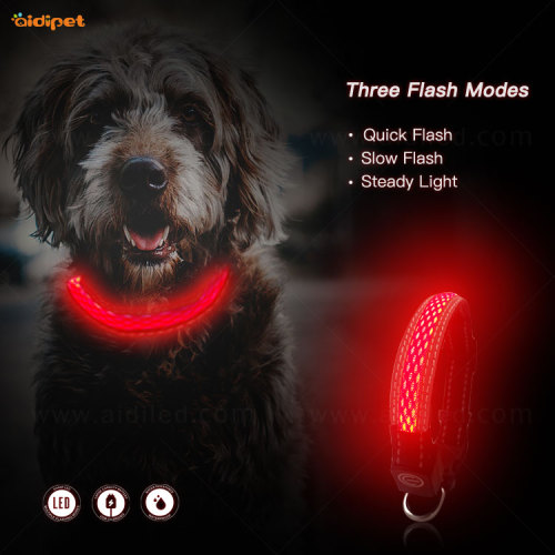 Small Waterproof Cat Dog Rechargeable Flashing Collar XS XXS Size of  Best Light Up ODM Collar for Bad Weather