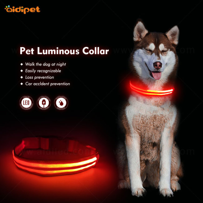 Dog Training Product Outdoor Night Walk LED Pet Collar