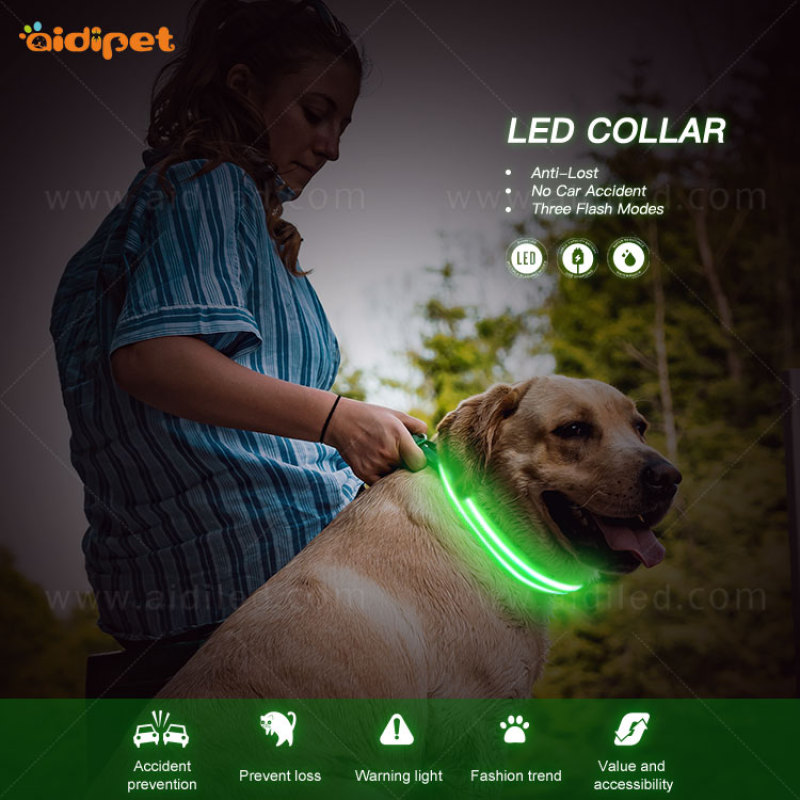personalized custom  Adjustable Led Dog Collar  for amazon