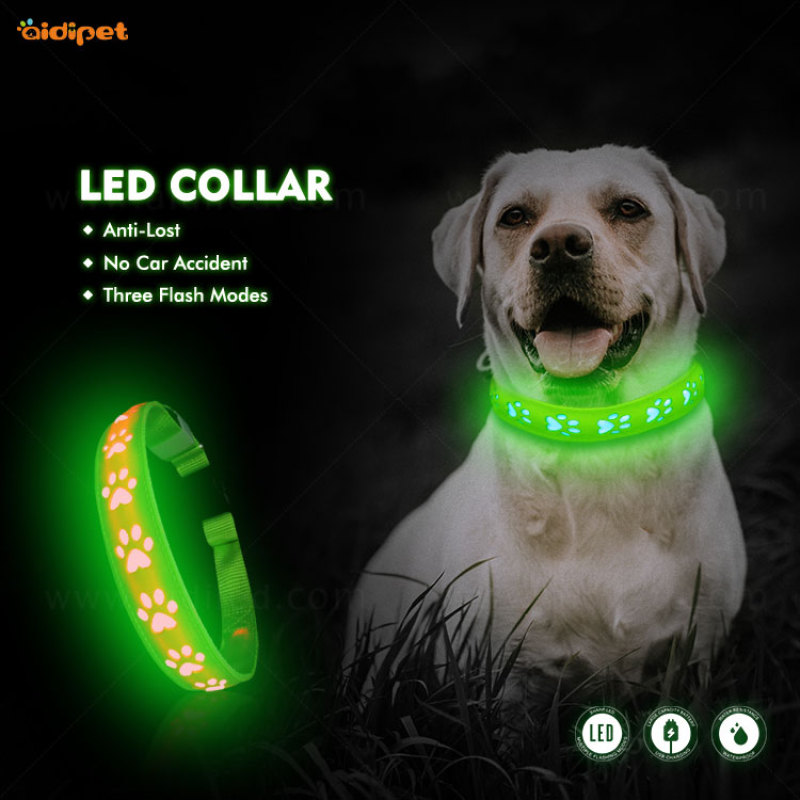 Popular hot sale pet accessory Hollow Printing Led Pet Collar