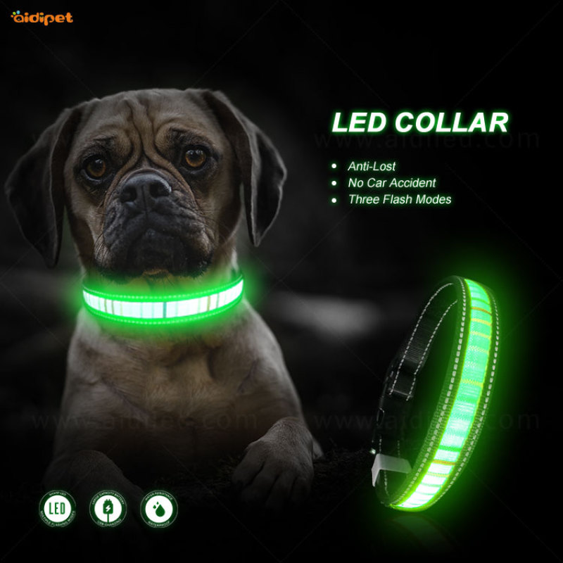 Fabric new arrival led dog collar N95 can suit the mask