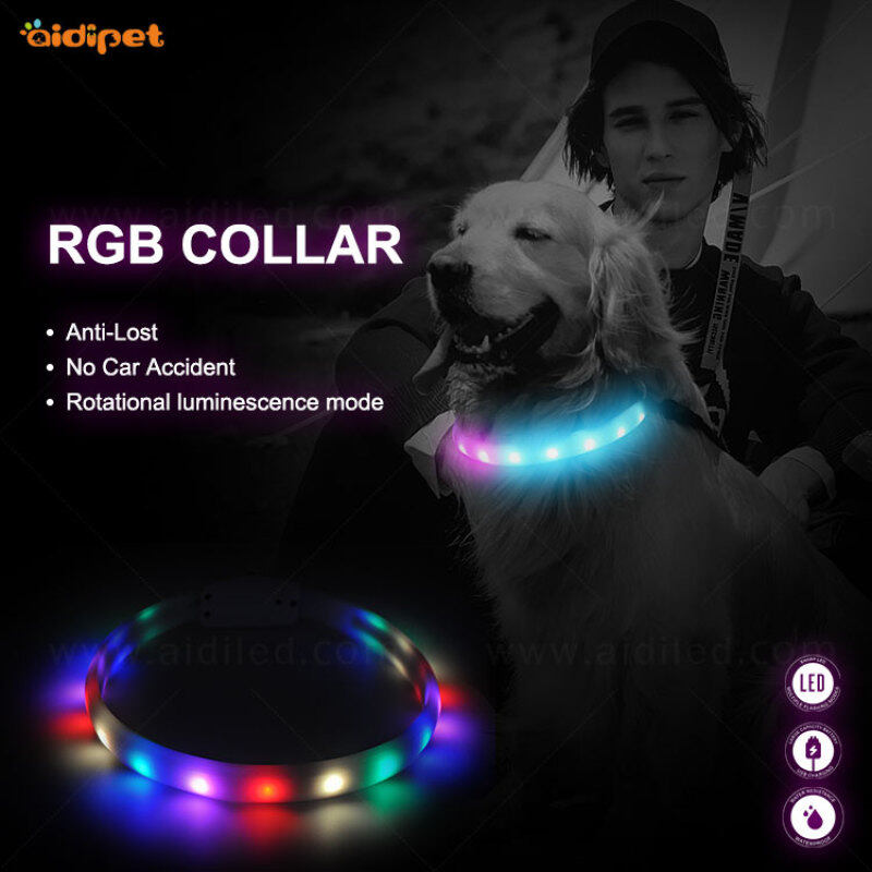 Factory Hot Selling LED color-changing pet collars fashion product for kinds of pet dog