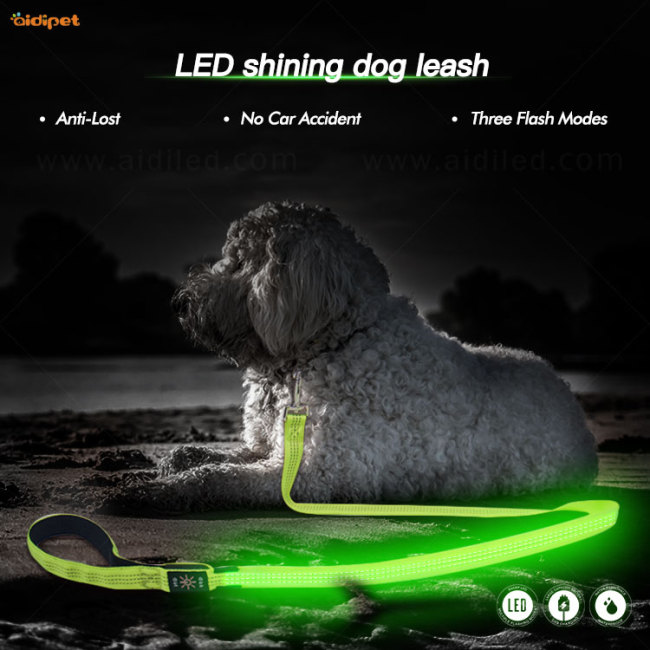Nylon Reflective Running Walking Leash Custom Hands Free Dog Leashes