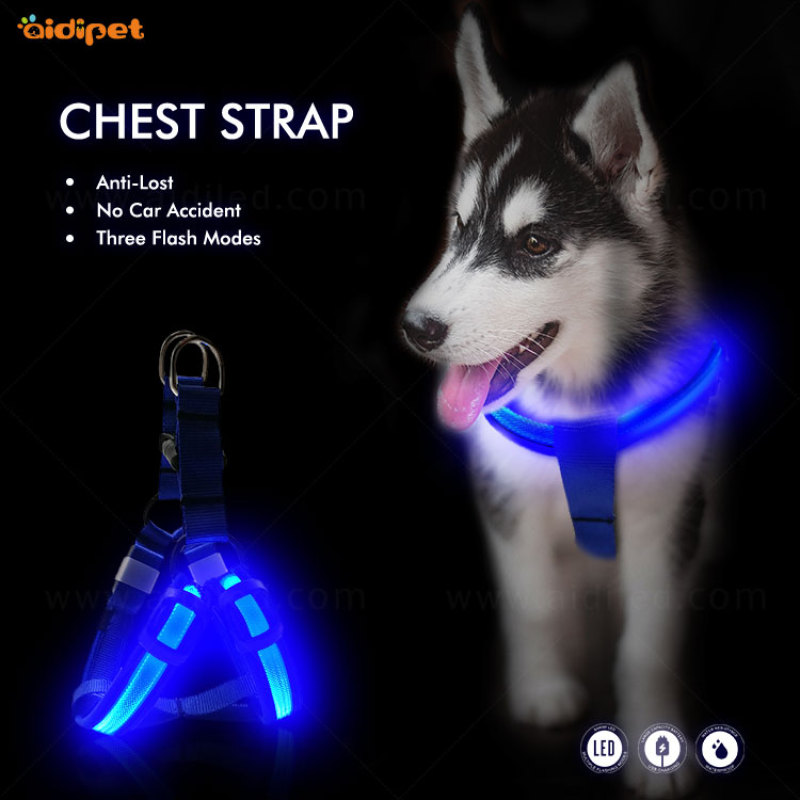 USB Rechargeable Outdoor Safety LED Dog Harness