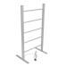 EV-100 Bathroom Ladder Aluminum Black Towel Warmer Floorstanding Electric Heated Towel Rail