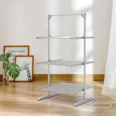 EVIA Bedroom Aluminum Folding 3 Tier Electric Clothes Drying Rack