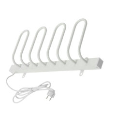 EV-40 Household Wall Mounted Heated Shoe Rack Aluminum White Painted Electric Shoe Dryer