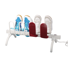 EV-80 Household Freestanding Aluminum Heated Shoe Rack White Painted Electric Shoe Dryer