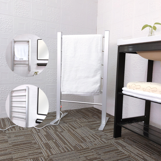 EV-100 Standing Towel Ladder Electric Heated Portable Towel Warmer Rack