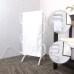 EVIA Free Standing Towel Warmer Black Electric Heated Towel Rack Stand For Bathroom