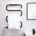 EV-100-S Free Standing Towel Warmer Black Electric Heated Towel Rack Stand For Bathroom