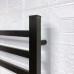 EVIA Bathroom Black Wall Mounted Electric Radiator Dryer Heated Towel Warmer Rack