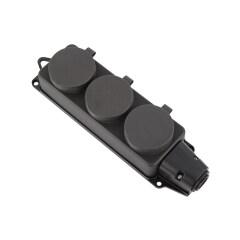 German Version 3 Ways 16A 250V Rewireable Waterproof Socket Outlet