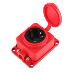 German Version 1 Way 16A 250V Rewireable Waterproof Socket Outlet