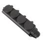 German Version 4 Ways 16A 250V Rewireable Waterproof Socket Outlet