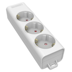 German Type 3 Ways Socket 16A 230V Ac Rewireable Socket