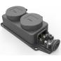 German Version 2 Ways 16A 250V Rewireable Waterproof Socket Outlet