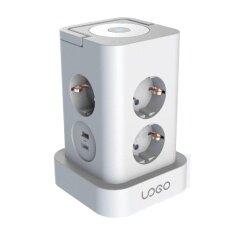 Desktop Smart Surge Protector White Table Power Universal Socket Outlet