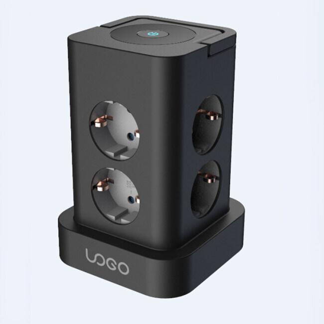 Desktop Smart Surge Protector Black Table Power Universal Socket Outlet
