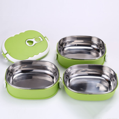 0.9L Portable Stainless Steel Thermal Insulated Lunch Box With Handle