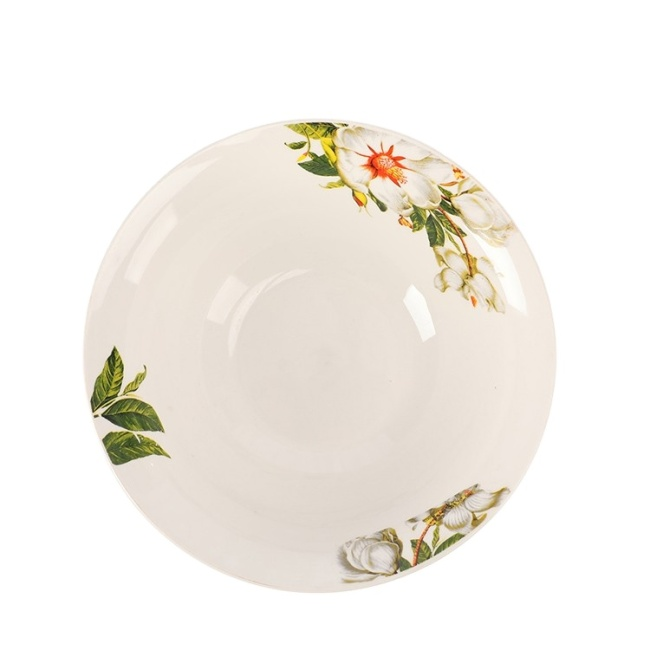 "Hot Sale 10"" Porcelain Bowl Decal Ceramic Dinnerware For Rice And Soup"