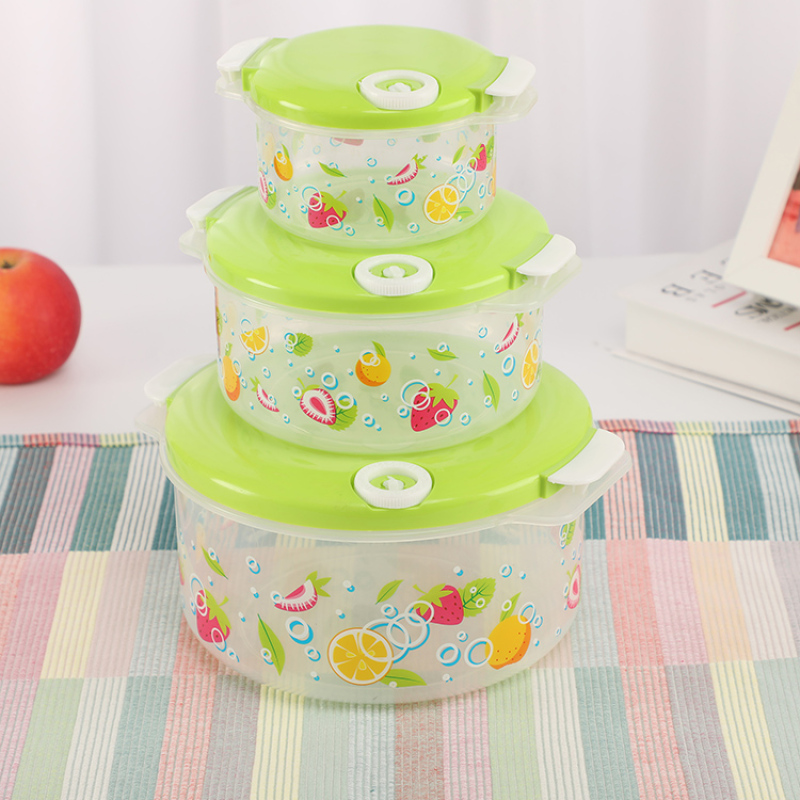 Wholesale 3Pcs/Set Reusable Eco-friendly Plastic Food Storage Container