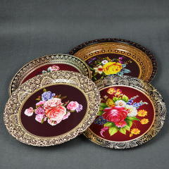 Tinplate Iron Serving Plate Serving Tray Rectangular Candy Plate With Elegant Appearance