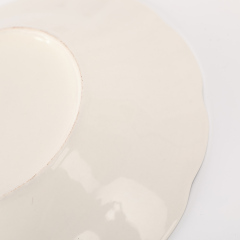 """Wholesale Restaurant Home Uesd 9"""" Ceramic Soup Plate With Silver Line"""