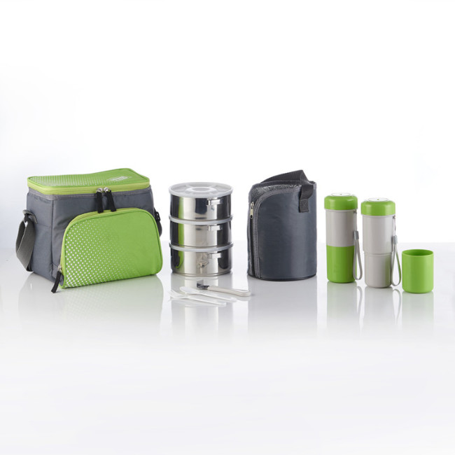 11Pcs/Set Stainless Steel Vacuum Hot Lunch Bento Boxes With Bag