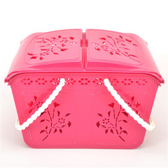 Hot Sale Cheap Food and Vegetable Fruit Plastic PP Basket With Handle