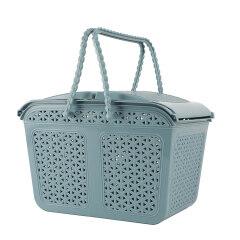 Top Sale Multi-purpose Plastic Clothes Storage Basket with Handle Bathroom Shower Sundries Storage Basket