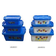 Set Of  4 Pcs Lunch Bento Box  Plastic Storage Box Food Container