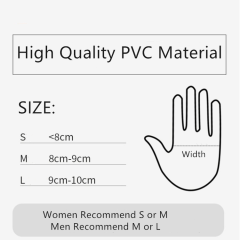 S M L Disposable Food Grade Powder Free PVC Vinyl Hand Gloves