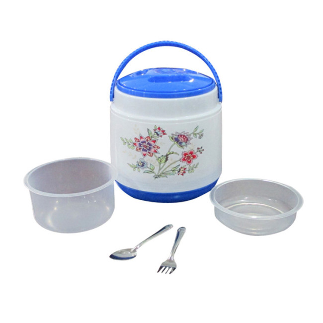 1.4L Plastic PP Thermal Insulated Lunch Box Dinnerware