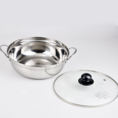 Double Ear Stainless Steel Hot Pot Casserole Set Soup Pot with Factory Price