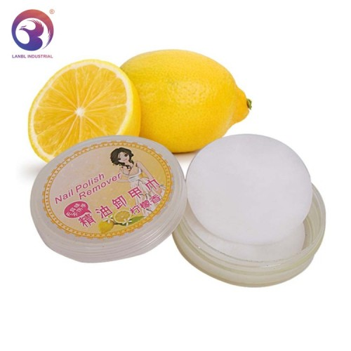 Factory Wholesale Fruit Flavor Good Quality Nail Polish Remover Wipe Pad