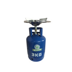High Quality 3KG Empty LPG Gas Cylinder Price Filling With Valve