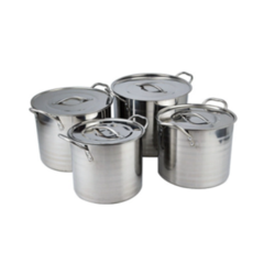 High Quality 4 Pcs Set Efficient Household Kitchenware Stainless Steel Stock Pot