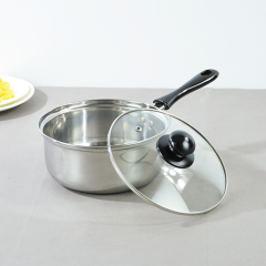 High Quality Stainless Steel Milk Boiling Pot Soup Pot with Silicone Handle