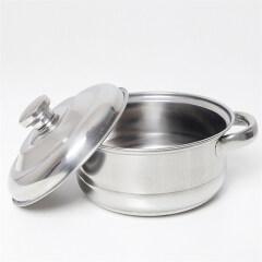 Home Restaurant Stainless Steel 2 Handles Hot Pot Casserole Cooking Pot Set