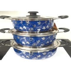 Korean Style 4 Pcs Stainless Steel Hot Pot Food Warmer Set with Decal Printing